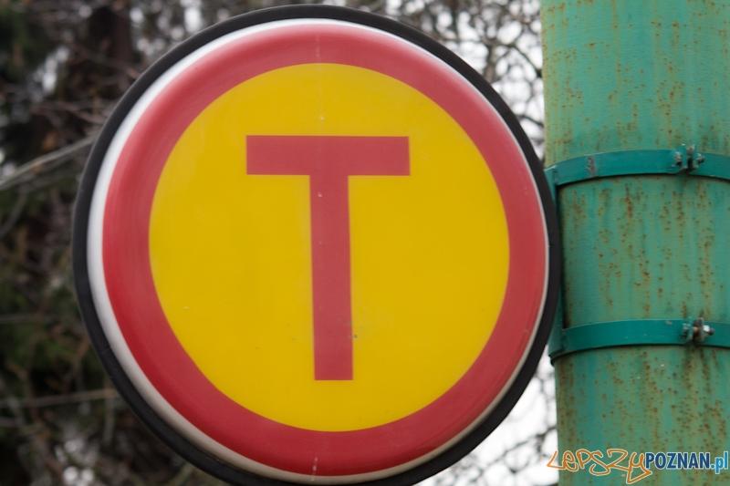 Przystanek tramwajowy - stary znak